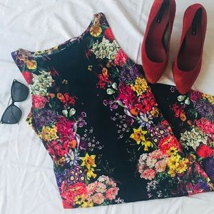 ASOS Body Con Floral Dress Size 12
